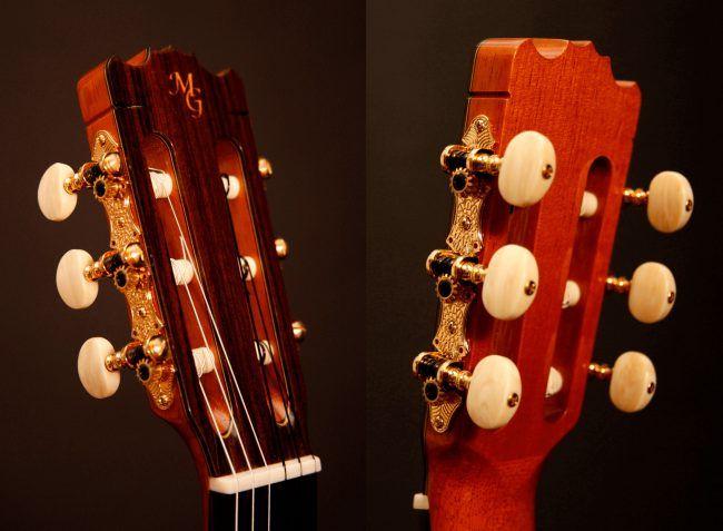 Cabeza o pala de guitarra española